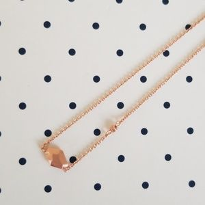 NWOT Kendra Scott Laureen Rose Gold Necklace